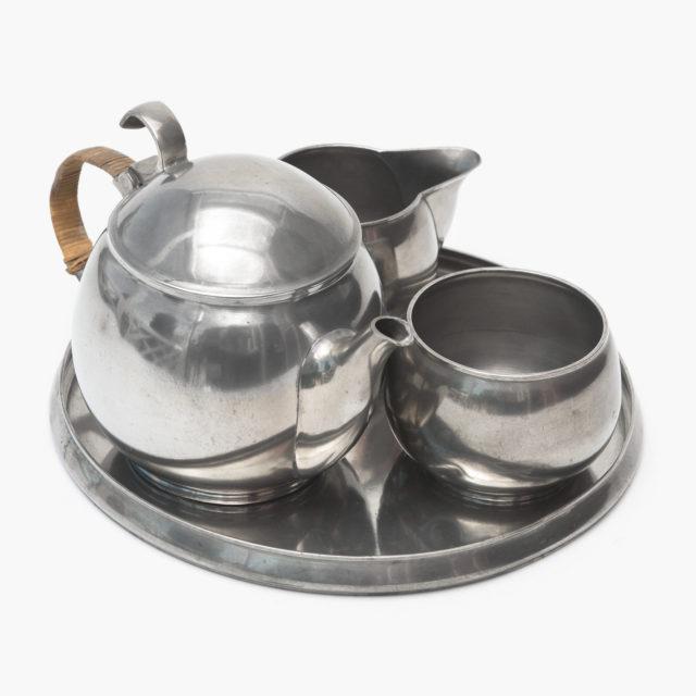 Teaset made of tin, Richard Riemerschmid for Deutsche Werkstätten