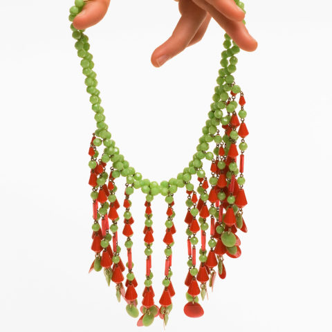 Necklace, plastic, Pop Art