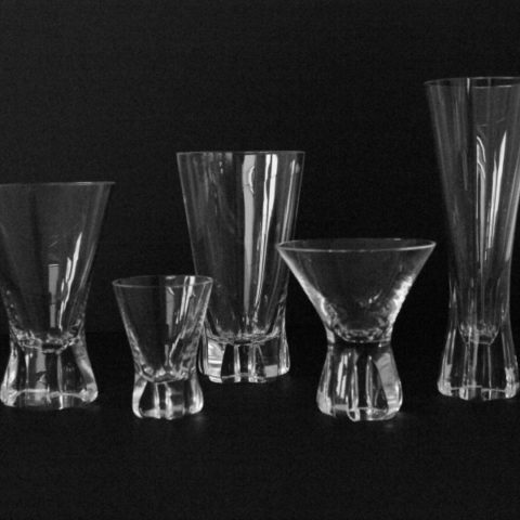 "Set of glass ""Patricia"", Wilhelm Wagenfeld for Rosenthal"