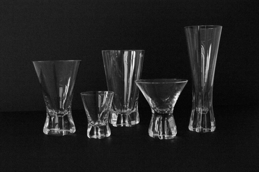 """Set of glass """"Patricia"""", Wilhelm Wagenfeld for Rosenthal"""