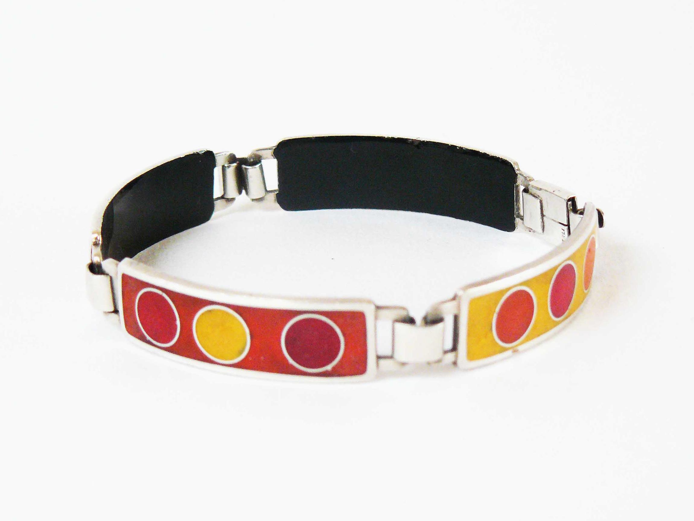 Bracelet, silver-plated, Perli