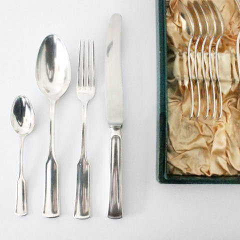 Cutlery for menu, Richard Riemerschmid for Peter Bruckmann