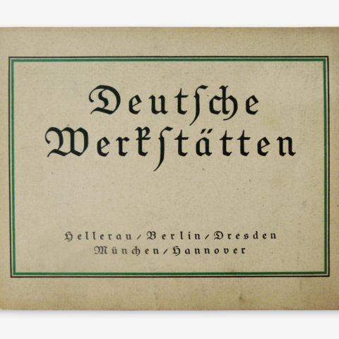 """""""Das Deutsche Hausgerät"""", first edition, Deutsche Werkstätten"""