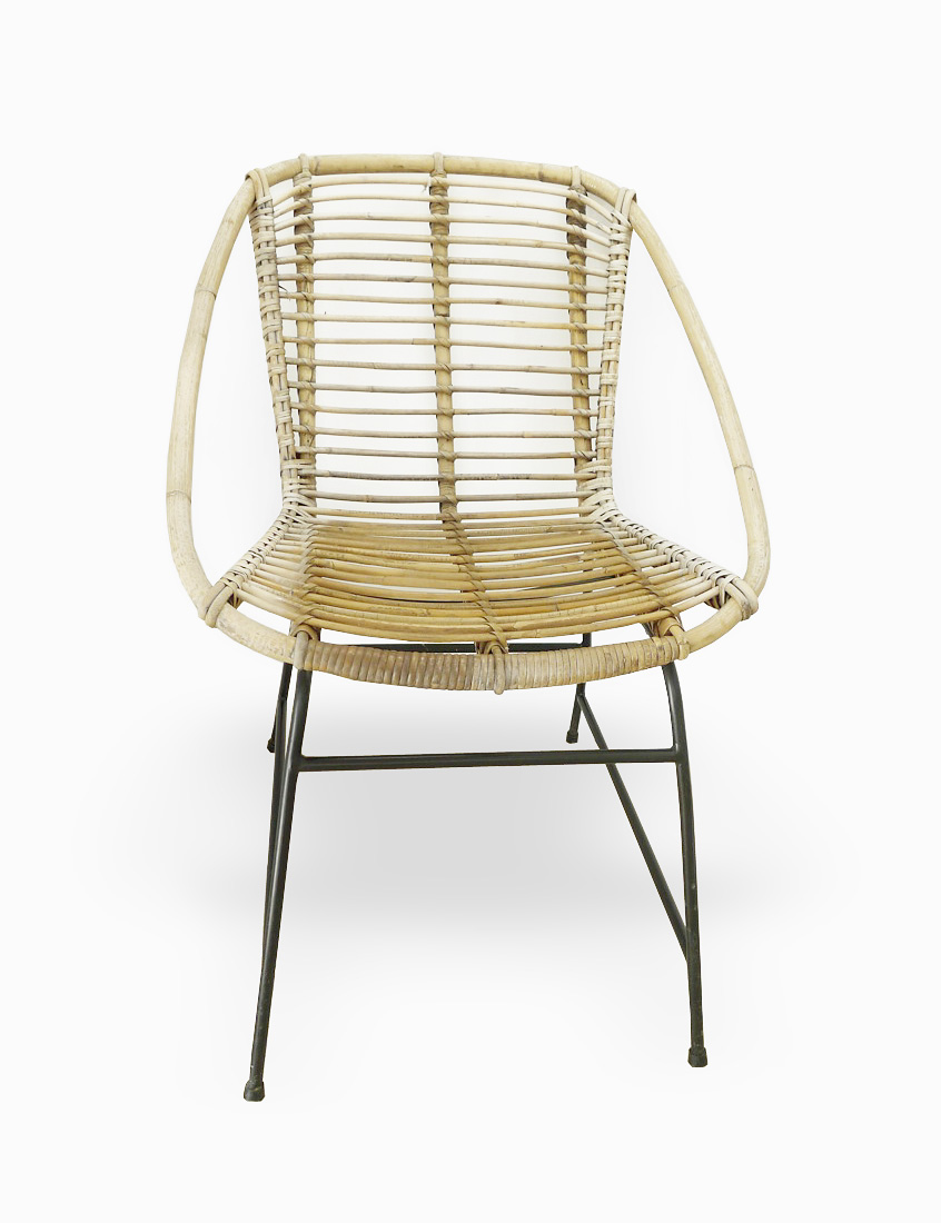 Two rattan chairs, Germany, 1960s