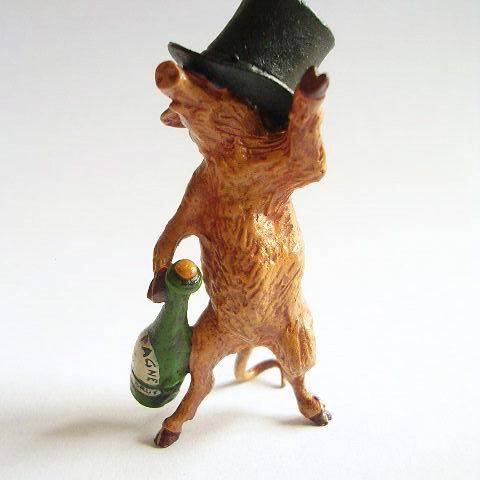 """Vienna Bronze, """"Drunken Pig"""", Vienna, Austria, 1920s"""