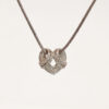 Necklace and Heart Pendant set with Diamonds